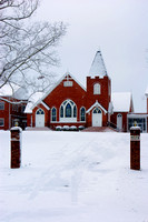 Hester Baptist Church In The Snow